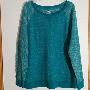 Size 1X Teal and White Sweater